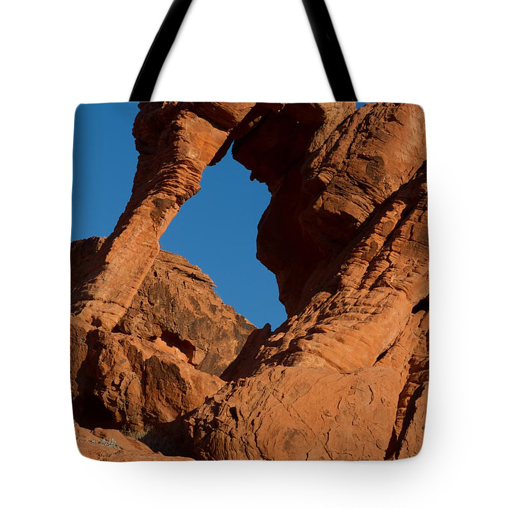 American Southwest Tote Bag featuring the photograph Elephant Rock by Dan Hartford
