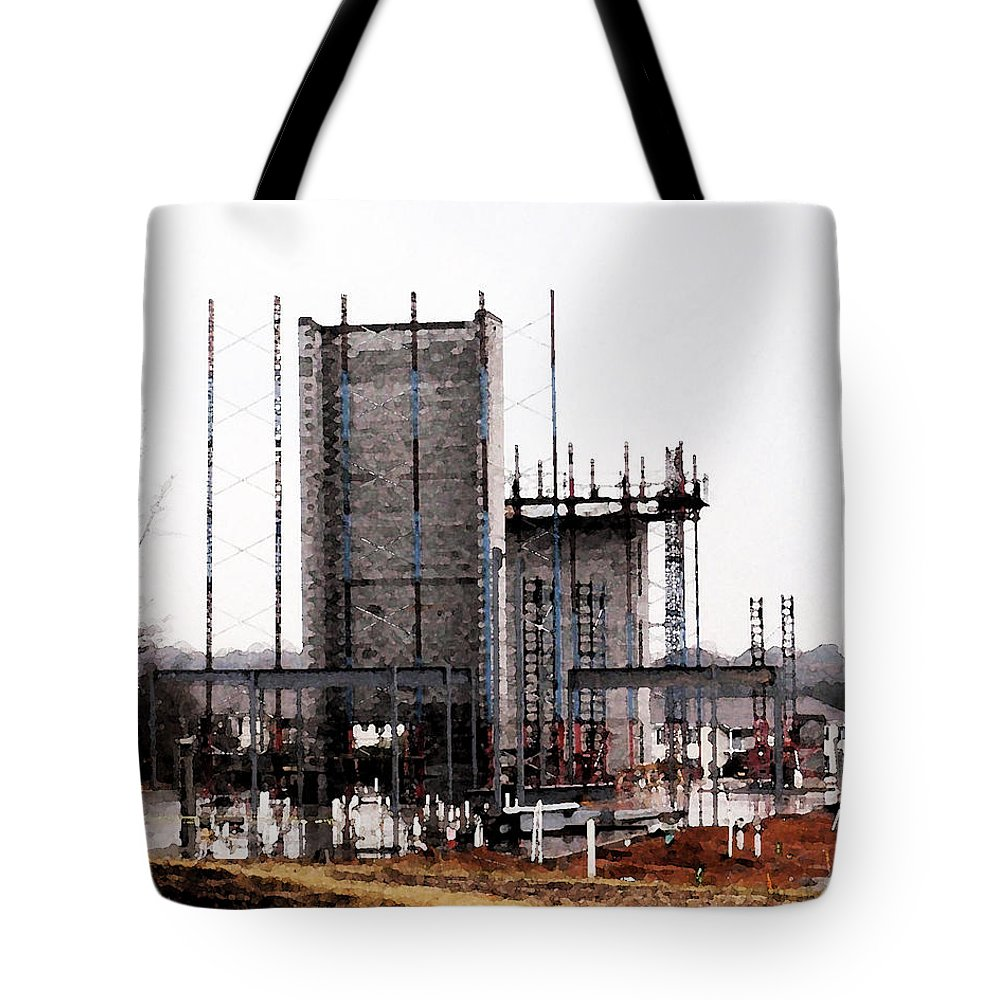 Elevator Tote Bag featuring the photograph Elevator Going Up by Kathy Clark
