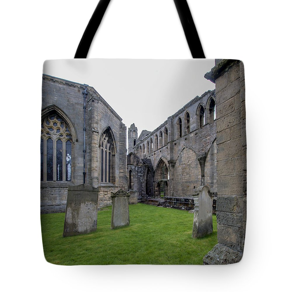 Elgin Tote Bag featuring the photograph Elgin Cathedral Community - 6 by Paul Cannon