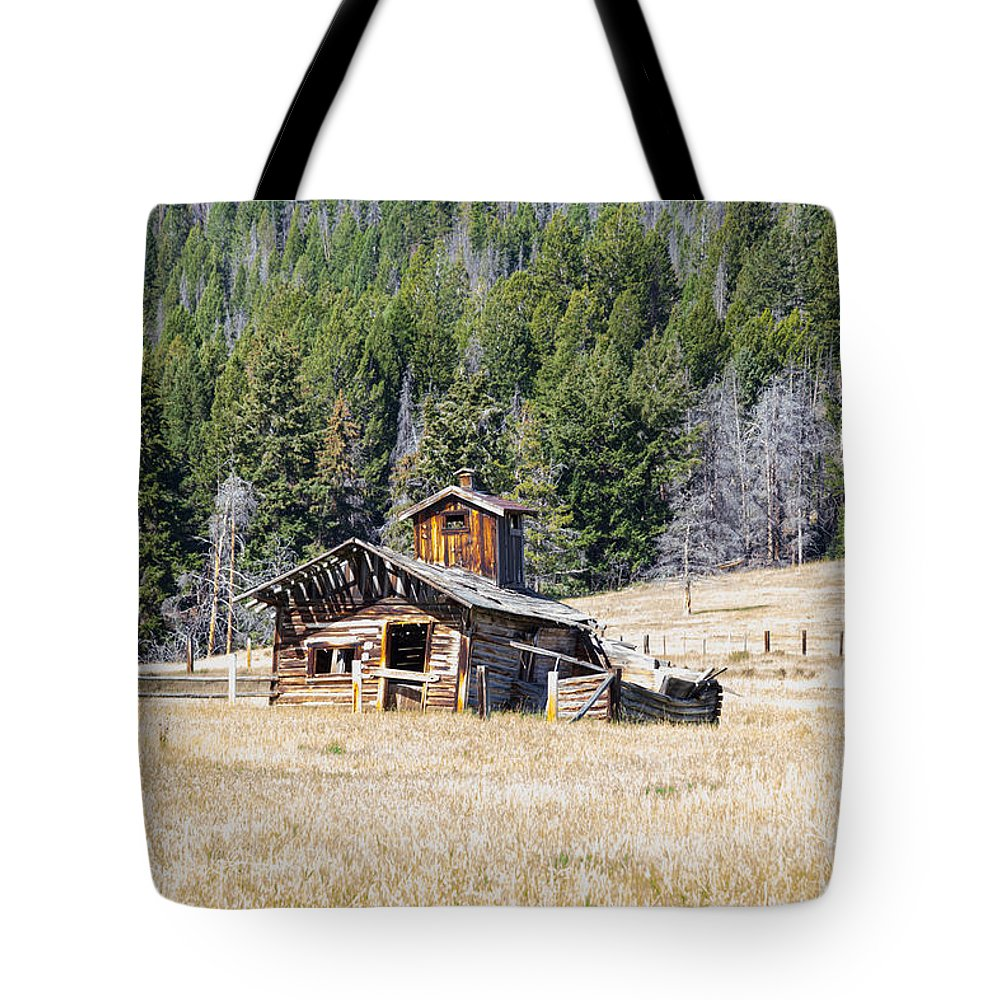 Elk Park Tote Bag featuring the photograph Elk Park Homestead by Fran Riley