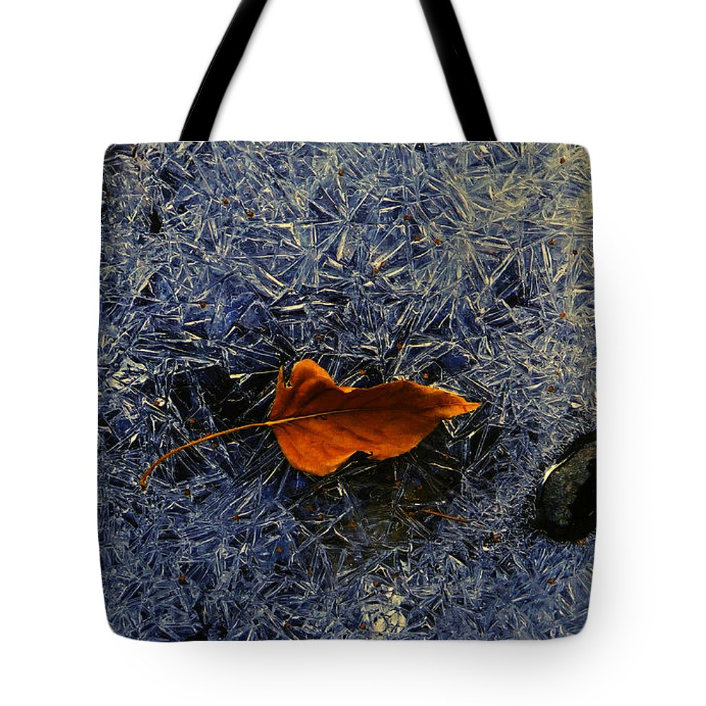 Ice Tote Bag featuring the photograph Elk's Fork Ice by J L Woody Wooden