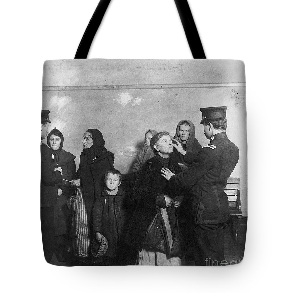 1911 Tote Bag featuring the photograph Ellis Island: Inspection by Granger