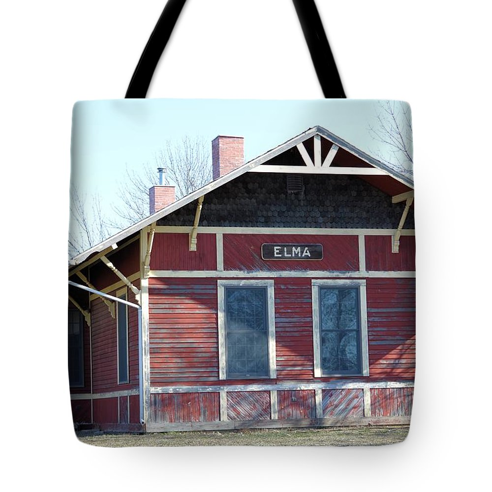 Depot Tote Bag featuring the photograph Elma Depot by Bonfire Photography