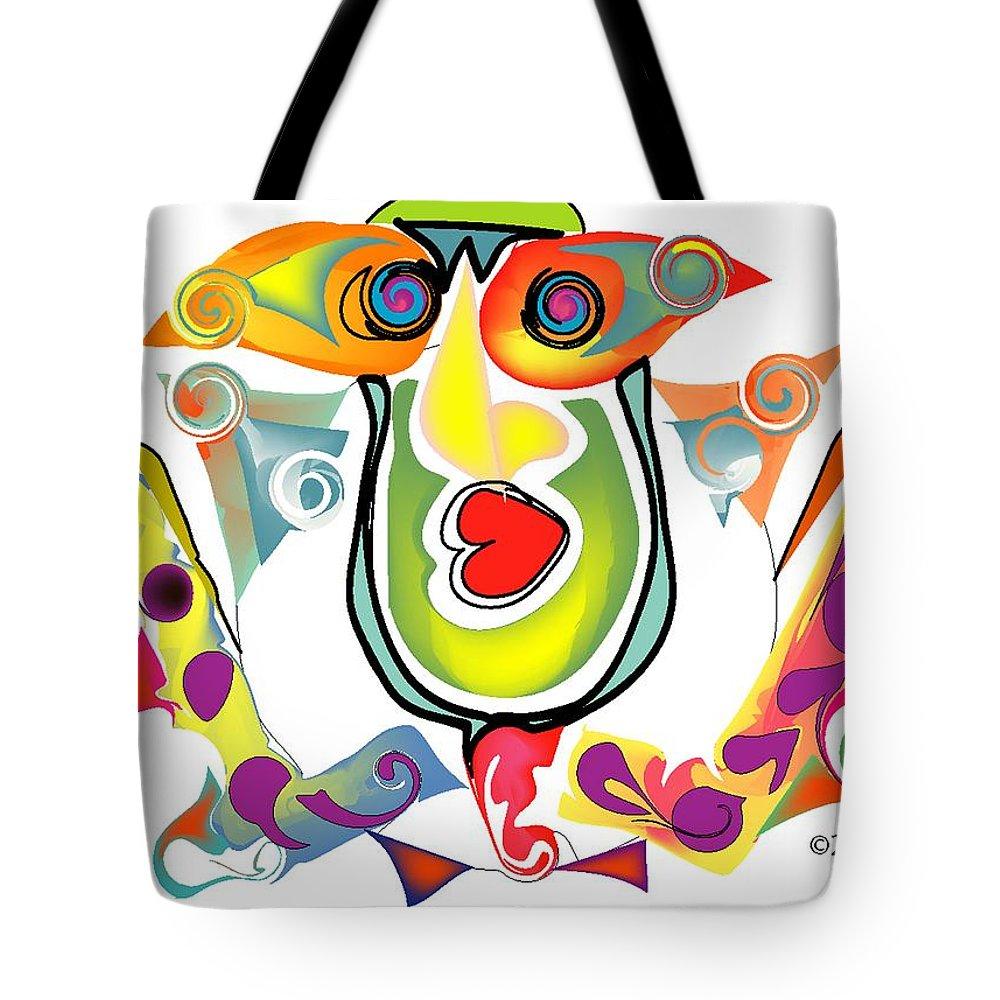 Life's Crazy Tote Bag featuring the digital art Elton John Bubble Bath by Andy Cordan