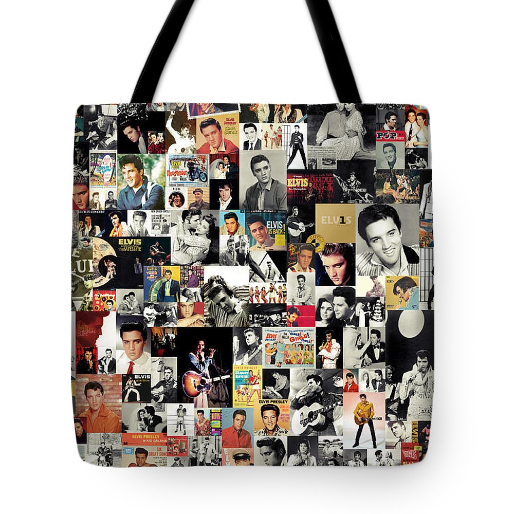 Elvis Presley Tote Bag featuring the digital art Elvis The King by Zapista OU