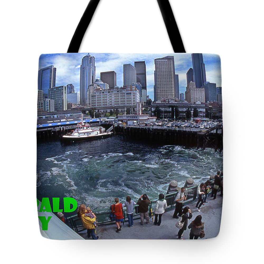 Seattle Tote Bag featuring the photograph Emerald City by Michael Moore