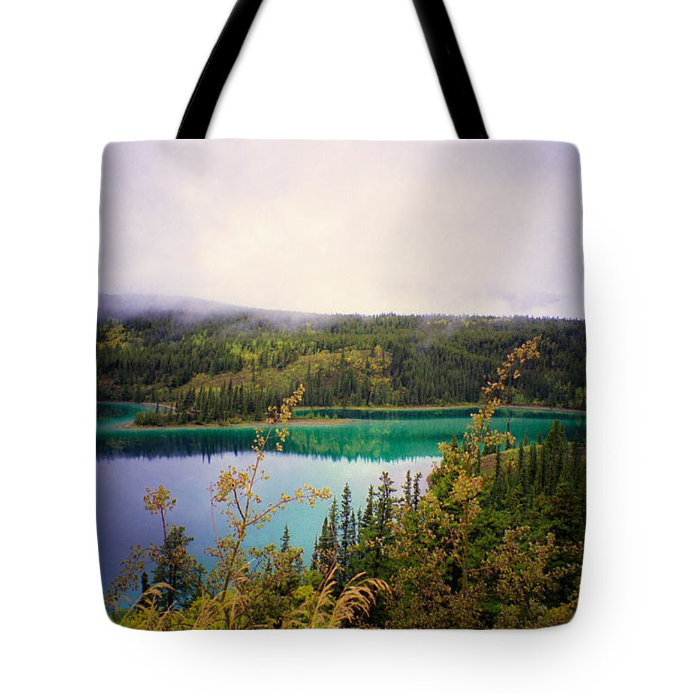 Emerald Lake Tote Bag featuring the photograph Emerald Lake by Suzanne Luft