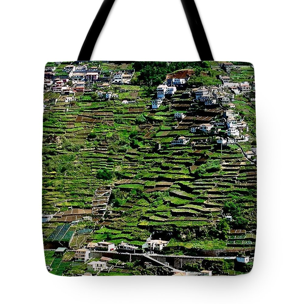 Photo Stream Tote Bag featuring the photograph Emerald Madeira Terraces by Eric Tressler