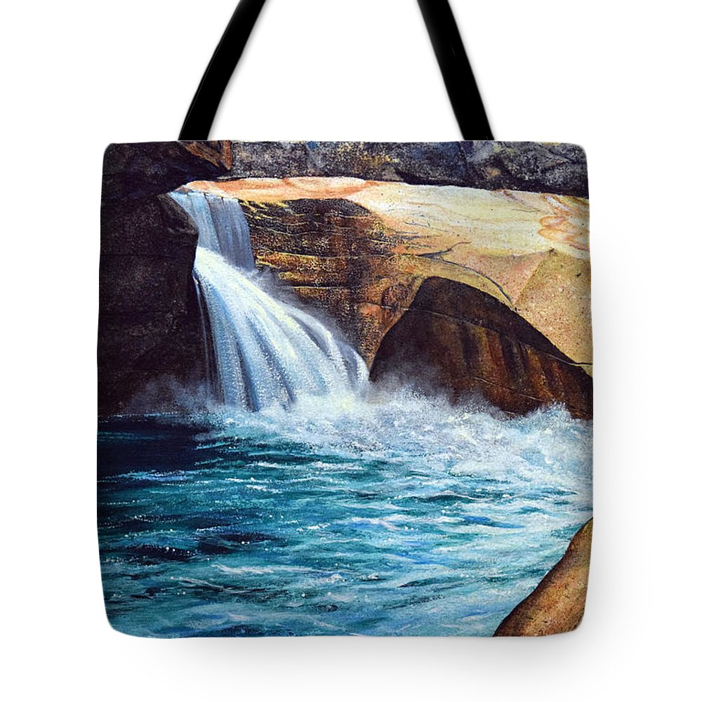 Emerald Pool Tote Bag featuring the painting Emerald Pool by Frank Wilson