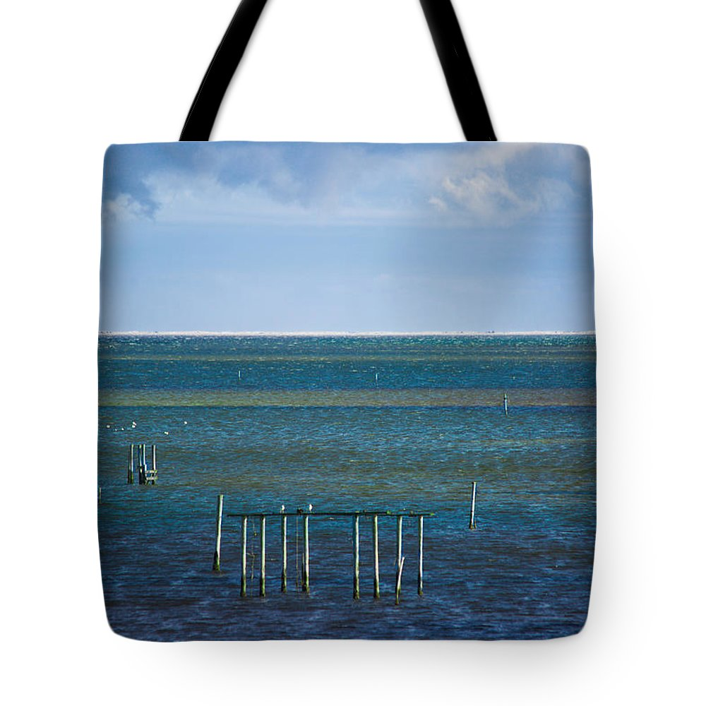 Emerald Tote Bag featuring the photograph Emerald Seas by Paula OMalley