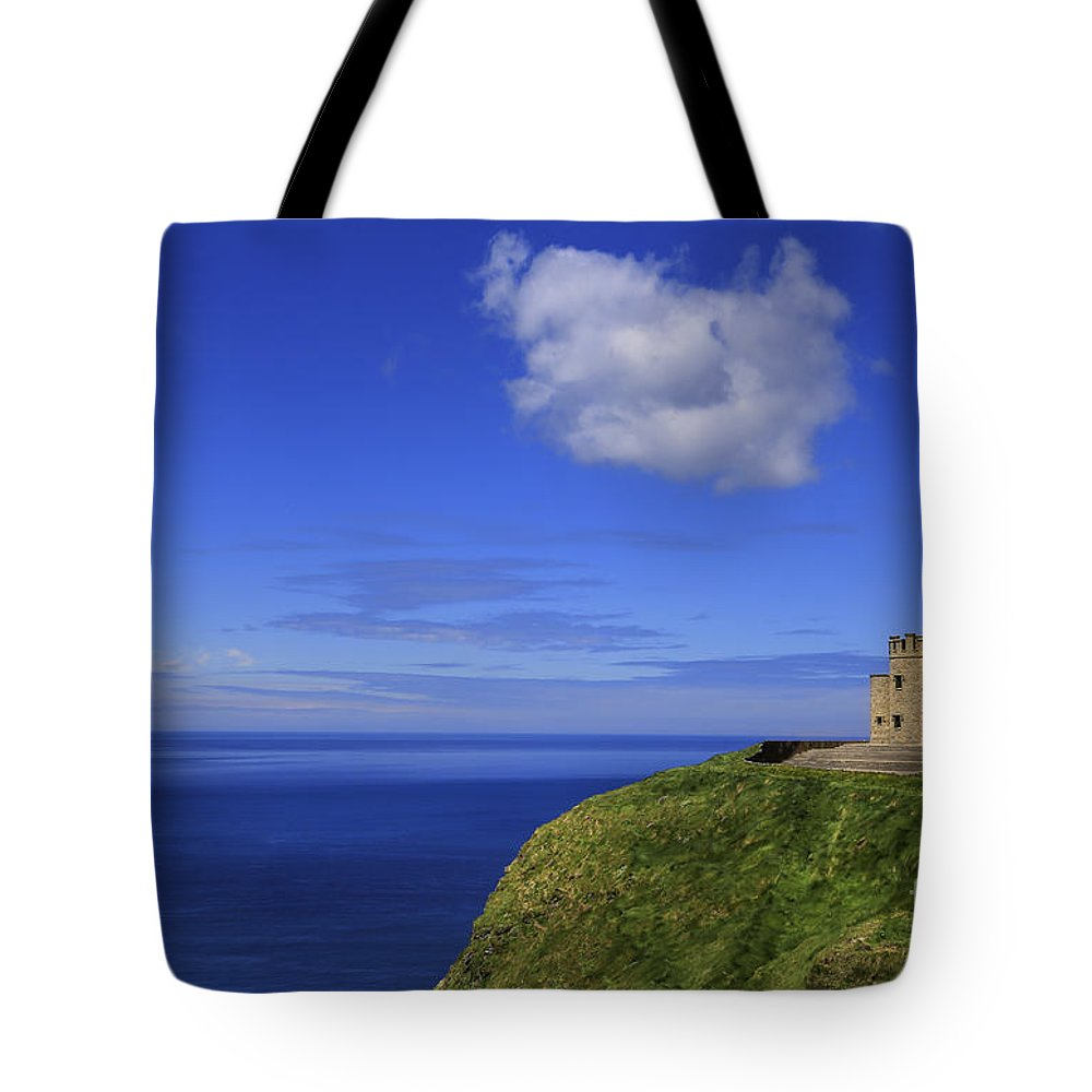 Tower Tote Bag featuring the photograph Emerging Castleland by Evelina Kremsdorf