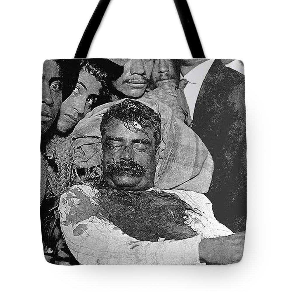 3f4c23d60ea86 Emiliano Zapata s Dead Body On Display Cuautia Morelos Morelos Mexico  August 1919 Tote Bag featuring the