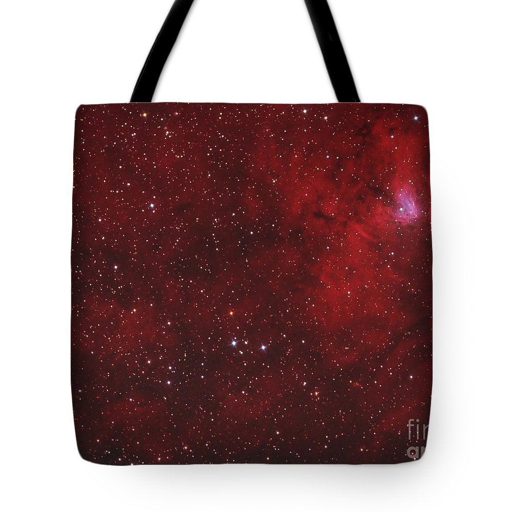 Emission Nebula Tote Bag featuring the photograph Emission Nebula IIn Perseus by Reinhold Wittich