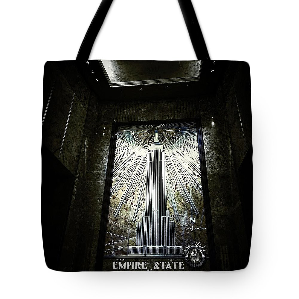 Empire State Building Tote Bag featuring the photograph Empire Art Deco by Natasha Marco