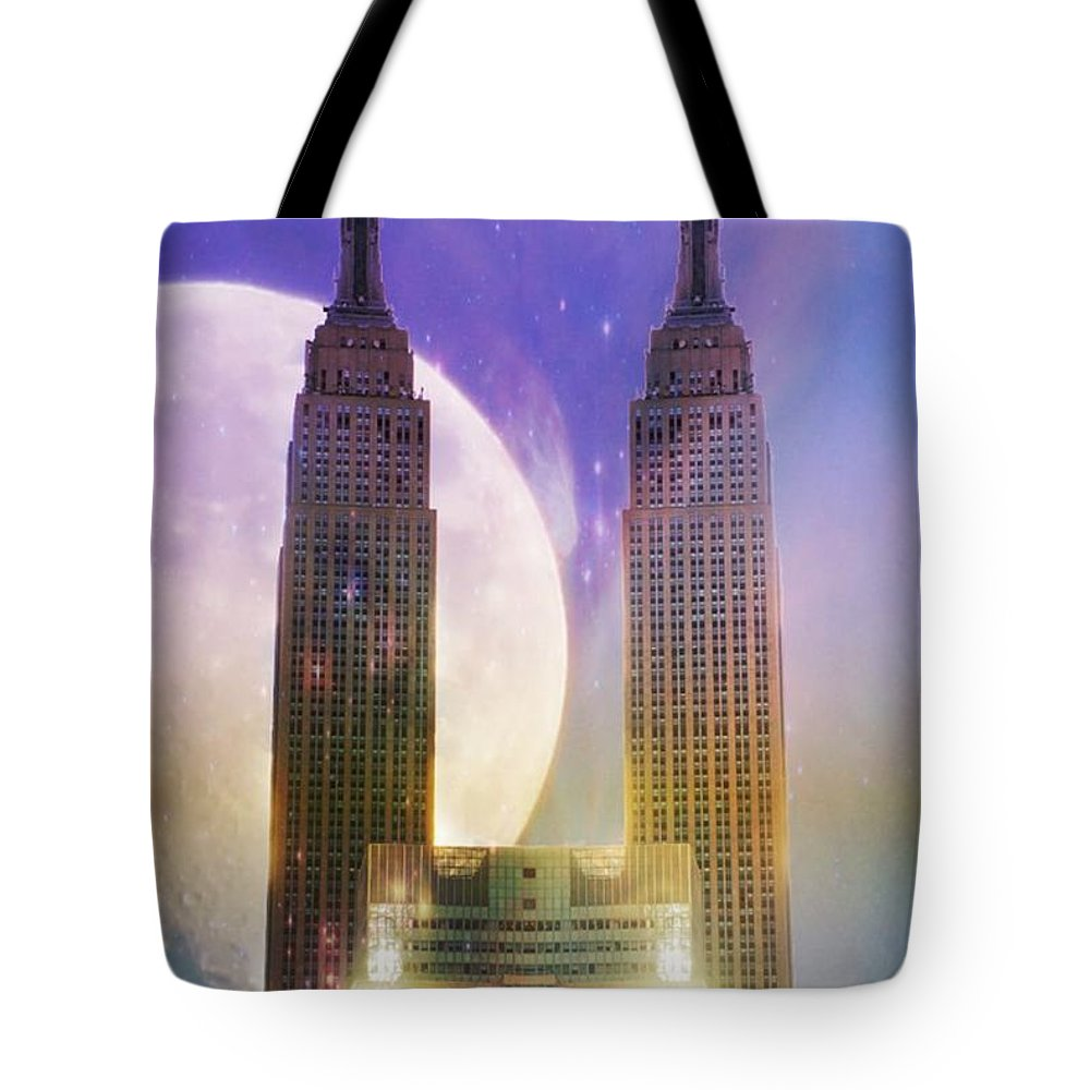 Empire Tote Bag featuring the photograph Empire by Lilliana Mendez