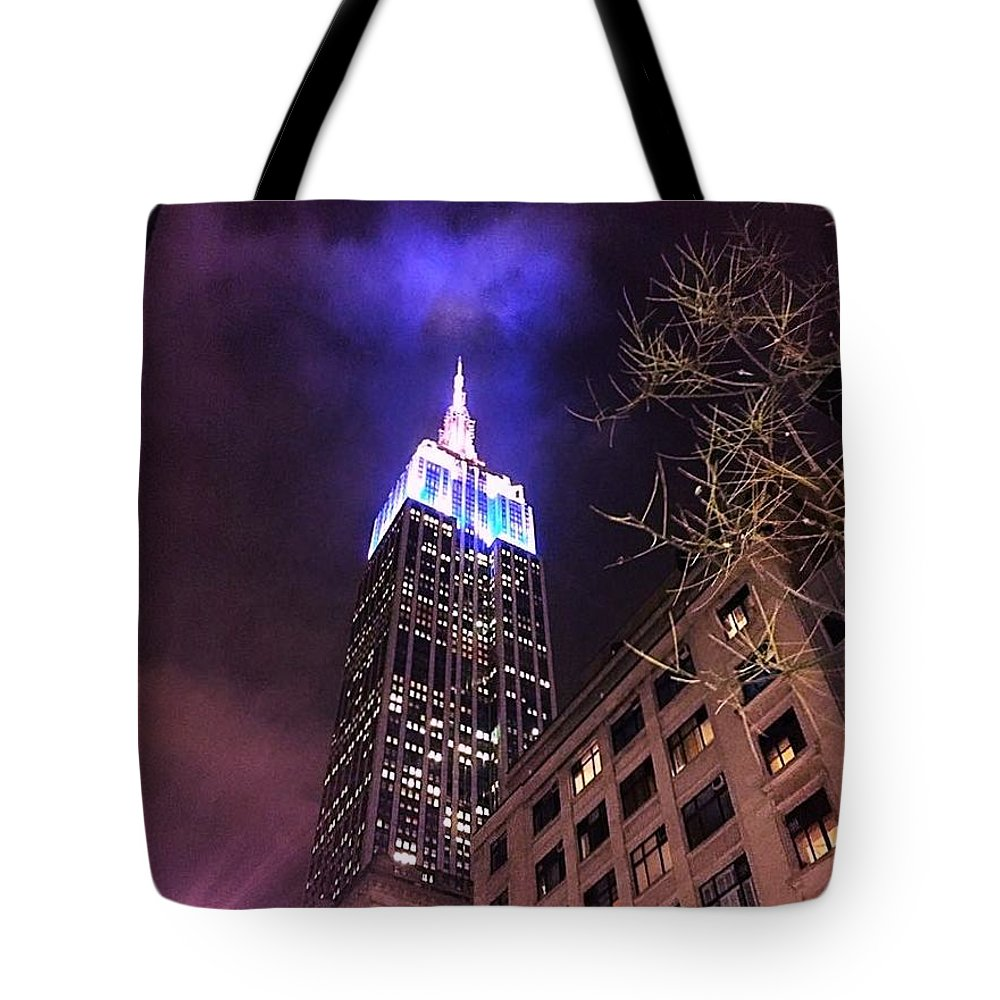 Nyc Tote Bag featuring the photograph Empire State Building by Jennifer Craft