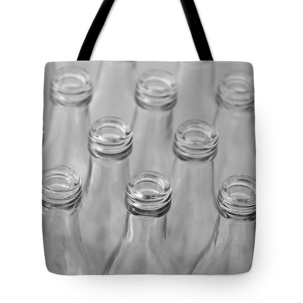 Bottle Tote Bag featuring the photograph Empty Bottles Abstract by Grigorios Moraitis