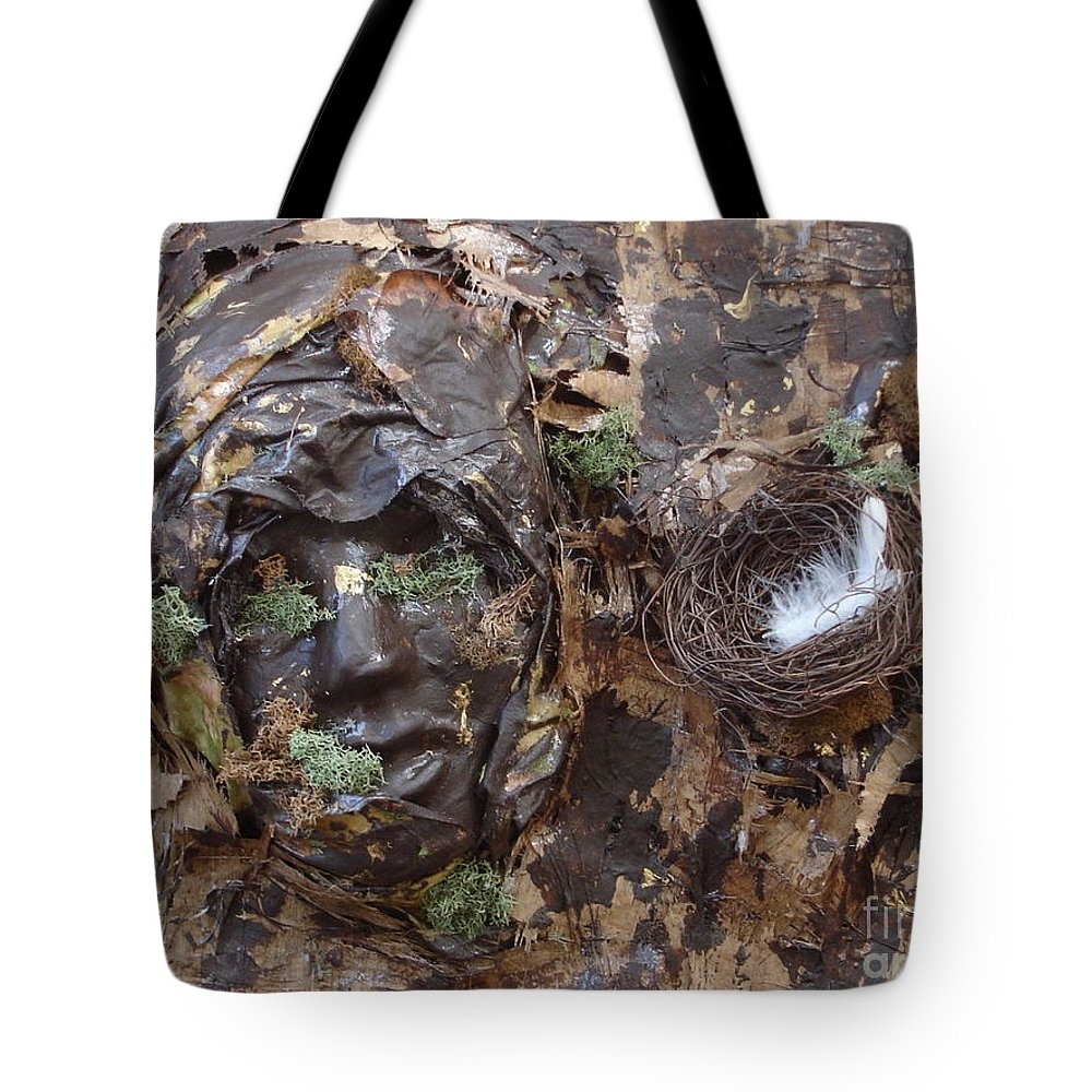 Empty Nest Tote Bag featuring the mixed media Empty Nest Always Welcome by Shelley Jones