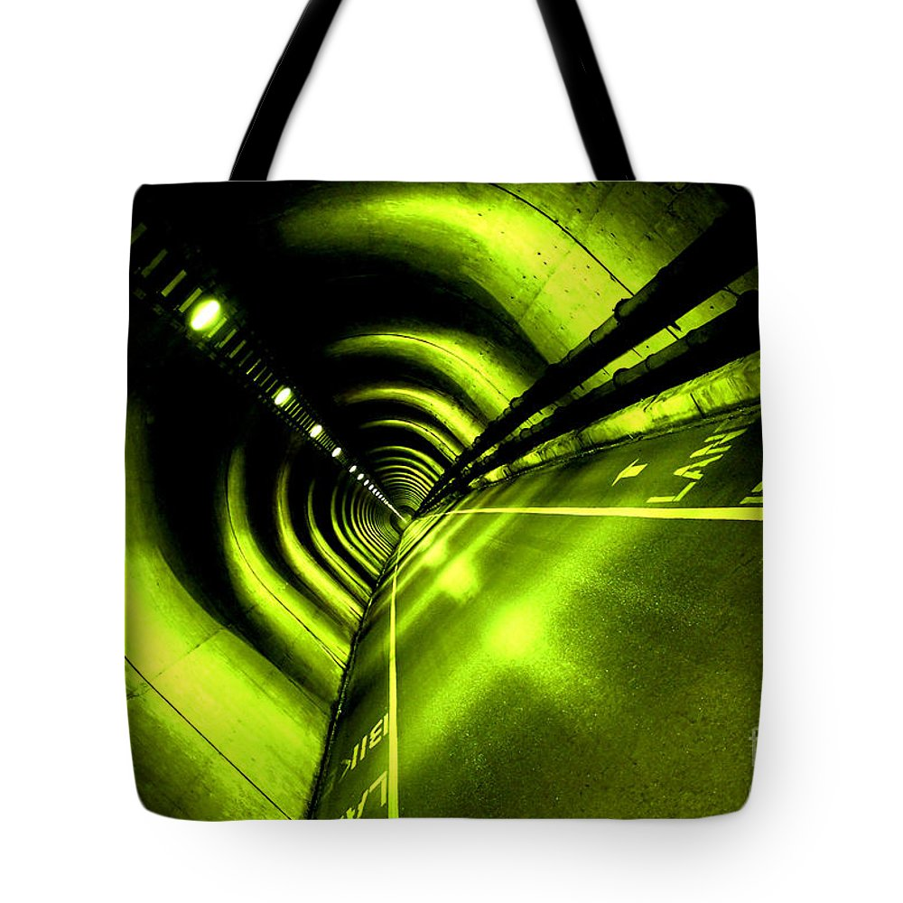 Tunnel Tote Bag featuring the photograph The Limelight by Digital Kulprits