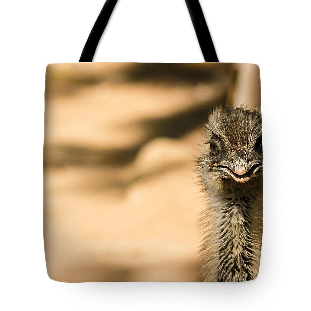 Emu Tote Bag featuring the photograph Emu Portrait by Eti Reid