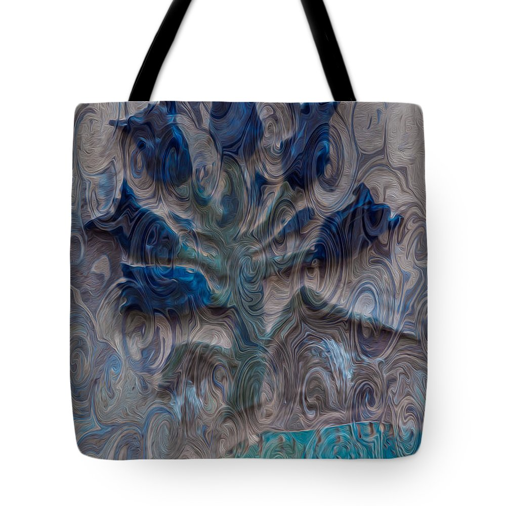 North Cascades Tote Bag featuring the painting Enchanted Bluebells by Omaste Witkowski