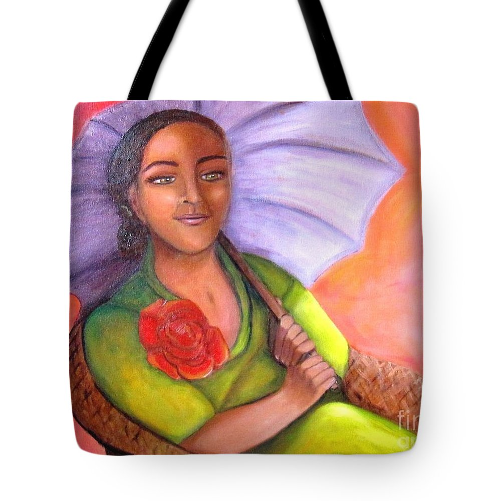 Rose Tote Bag featuring the painting Enchanted Rose by Laurie Morgan