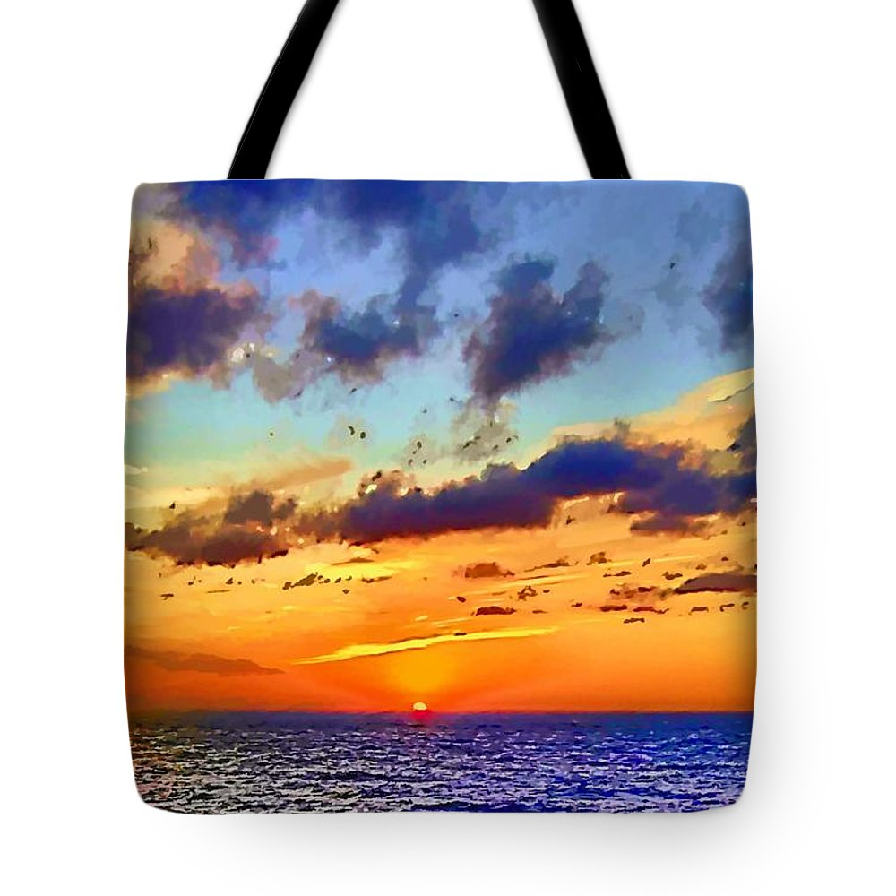 Seascape Tote Bag featuring the photograph End Of The Day by John Lynch