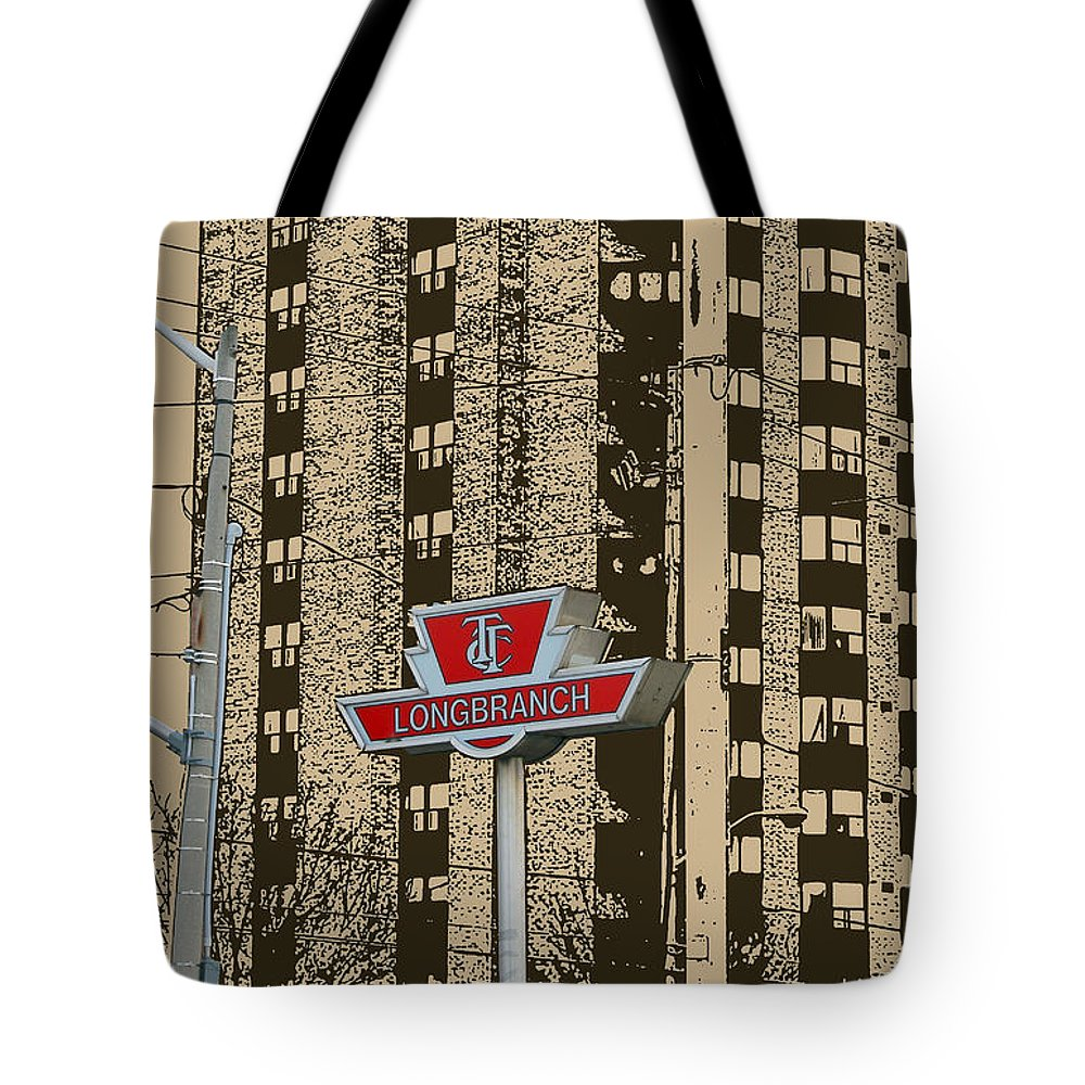 Long Branch Tote Bag featuring the photograph End Of The Line At Long Branch by Nina Silver