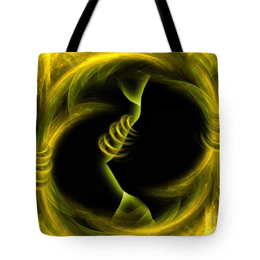 Endlesscompromises Tote Bag featuring the digital art Endless Compromises - Abstract Art By Giada Rossi by Giada Rossi