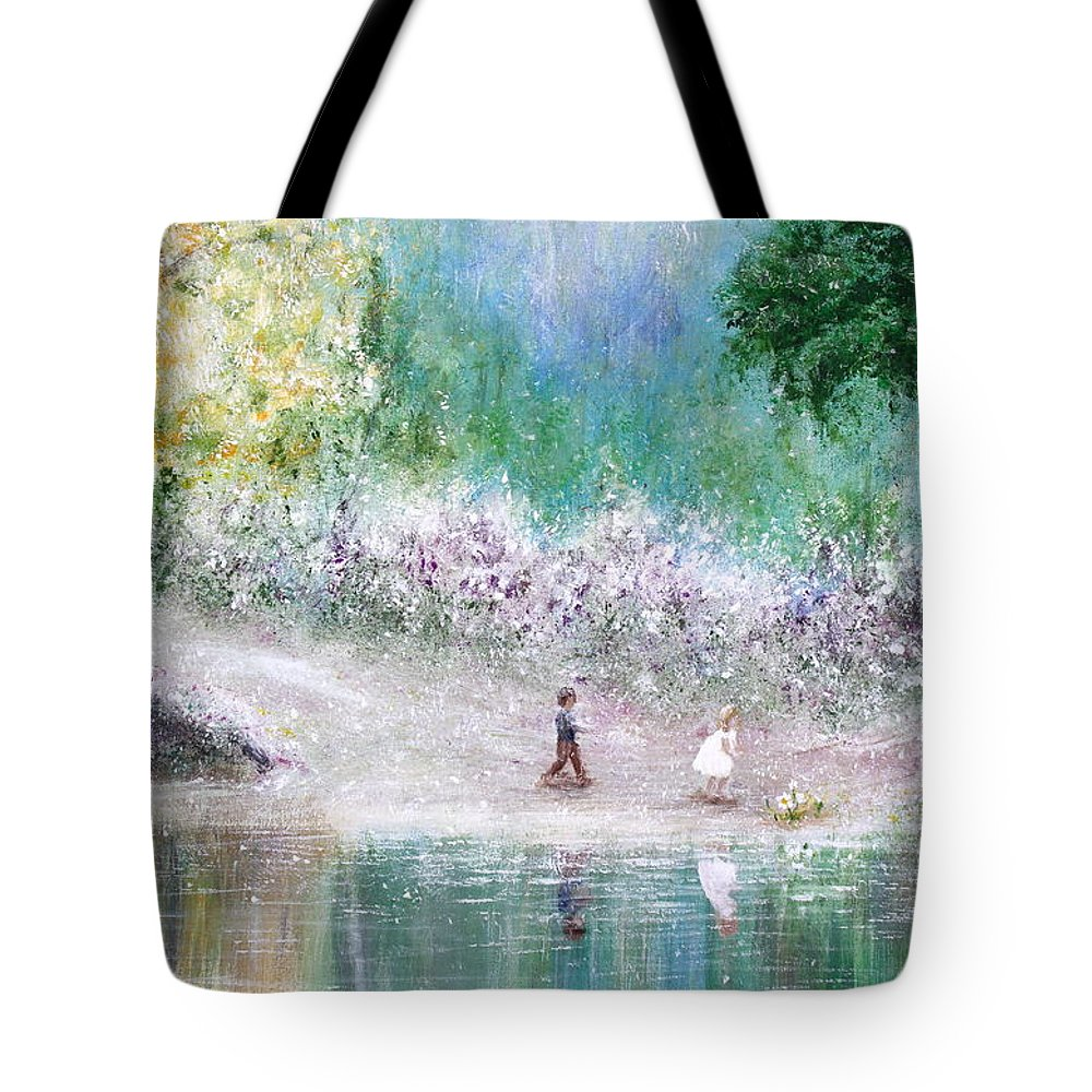 Endless Day Tote Bag featuring the painting Endless Day by Kume Bryant