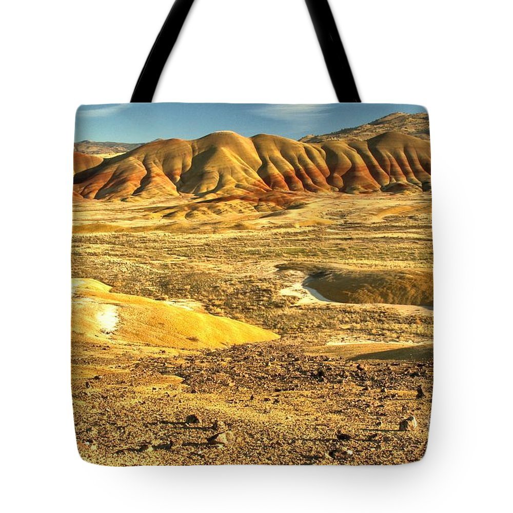 Painted Hills Tote Bag featuring the photograph Endless Painted Hills by Adam Jewell