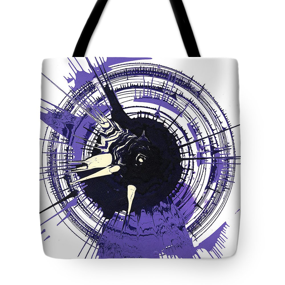 Energy Tote Bag featuring the mixed media Energy II by Luz Elena Aponte