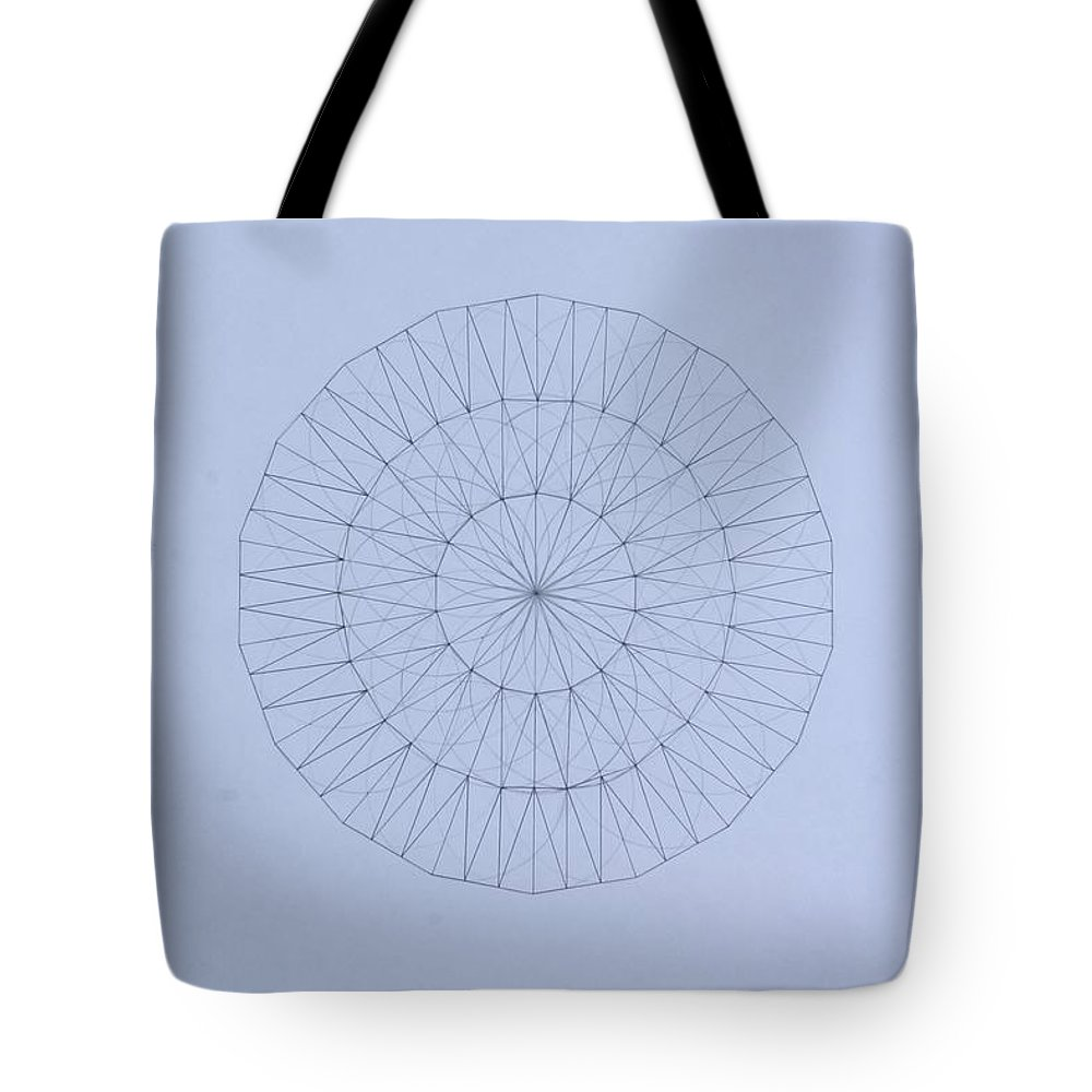 Jason Padgett Tote Bag featuring the drawing Energy Wave 20 Degree Frequency by Jason Padgett