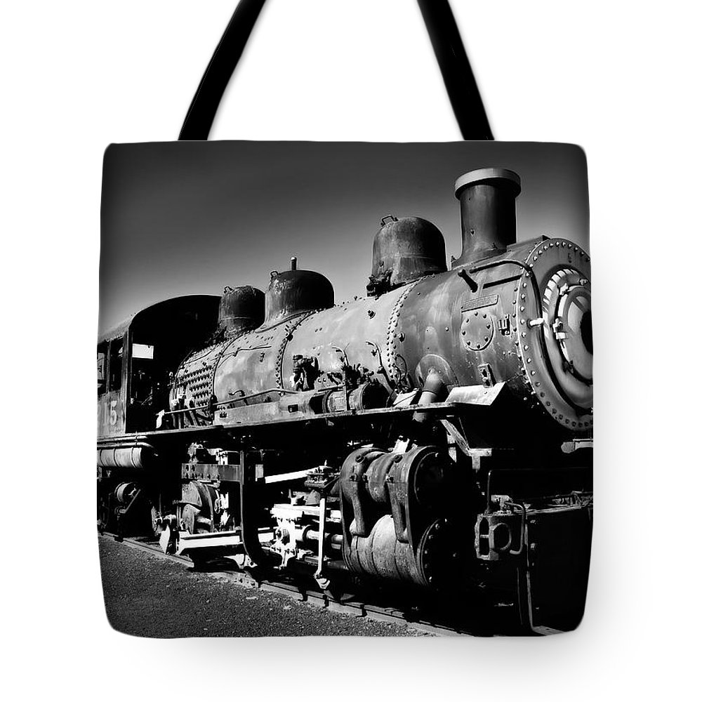 Train Tote Bag featuring the photograph Engine 1215 by Mick Burkey