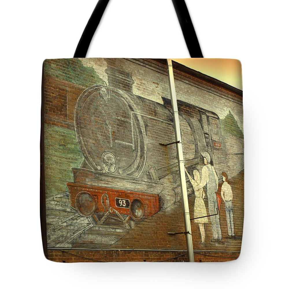 Train Tote Bag featuring the photograph Engine 93 by Kathy Barney