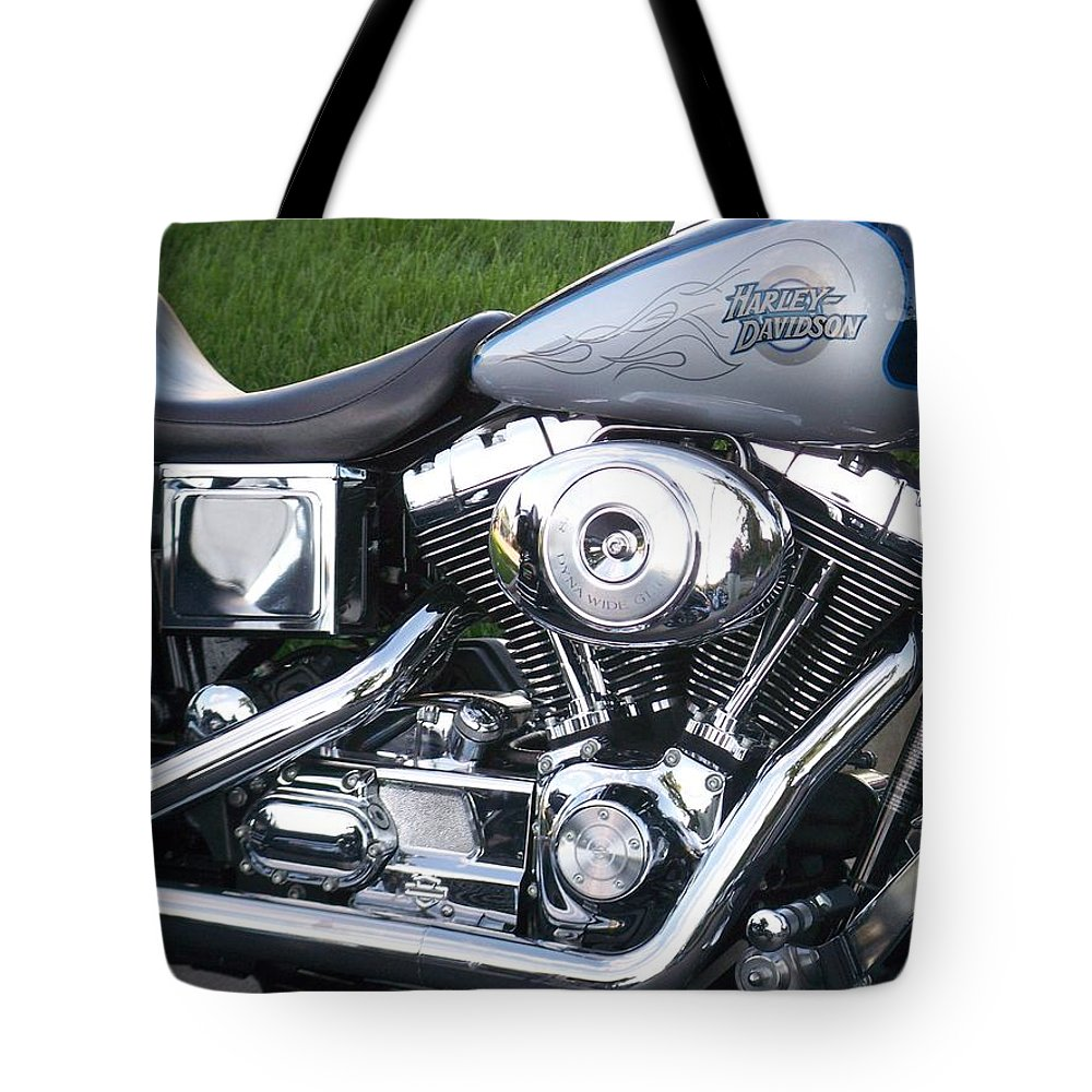 Motorcycles Tote Bag featuring the photograph Engine Close-up 5 by Anita Burgermeister