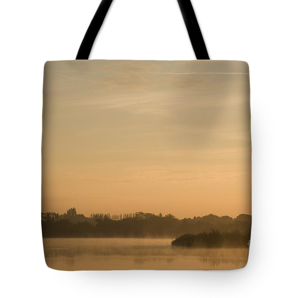 Atmospheric Tote Bag featuring the photograph Engine Pool Sunrise by Anne Gilbert