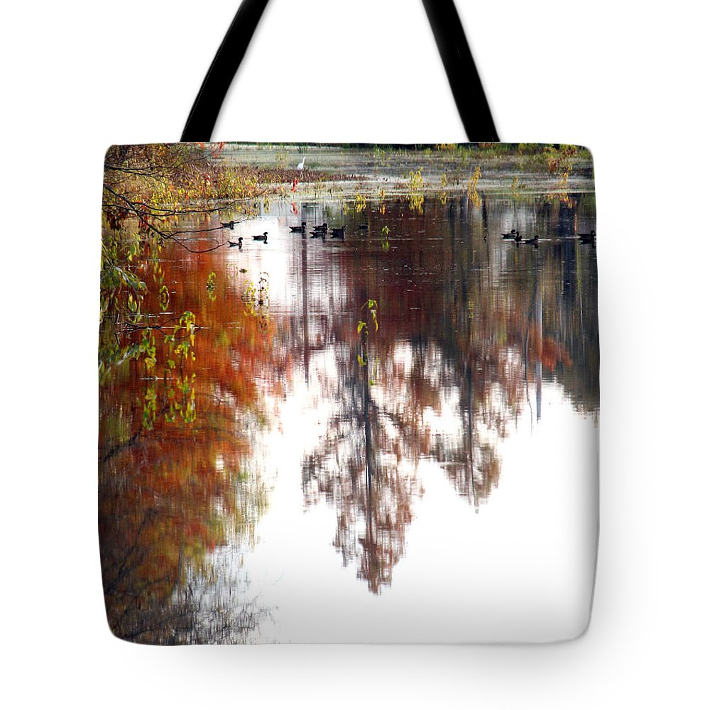Bayou Tote Bag featuring the photograph Enjoying The Bayou by Kathy White