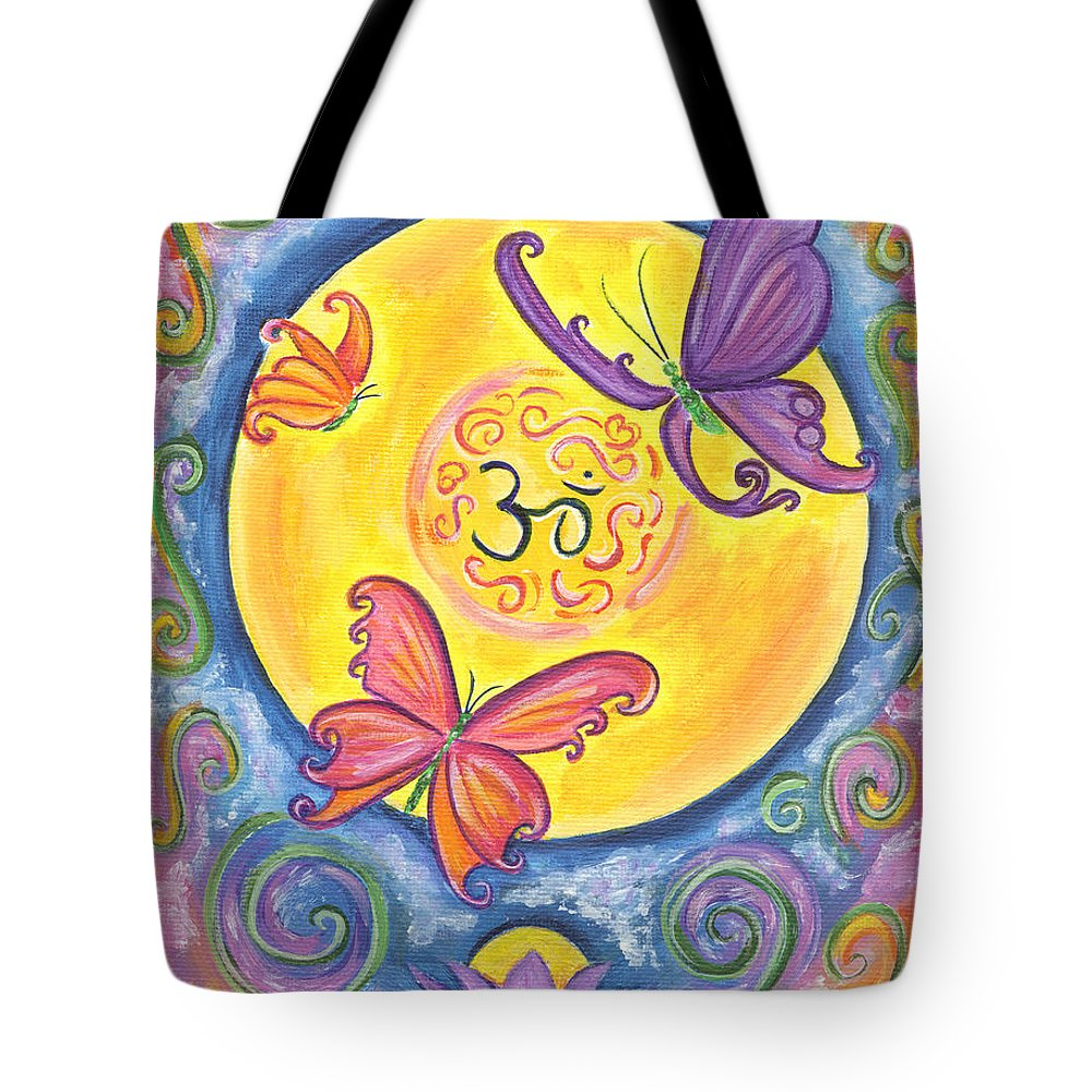 Enlightenment Tote Bag featuring the painting Enlightenment by Diana Haronis