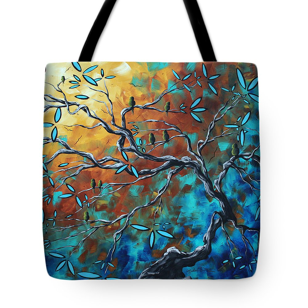 Art Tote Bag featuring the painting Enormous Abstract Bird Art Original Painting Where The Heart Is By Madart by Megan Duncanson
