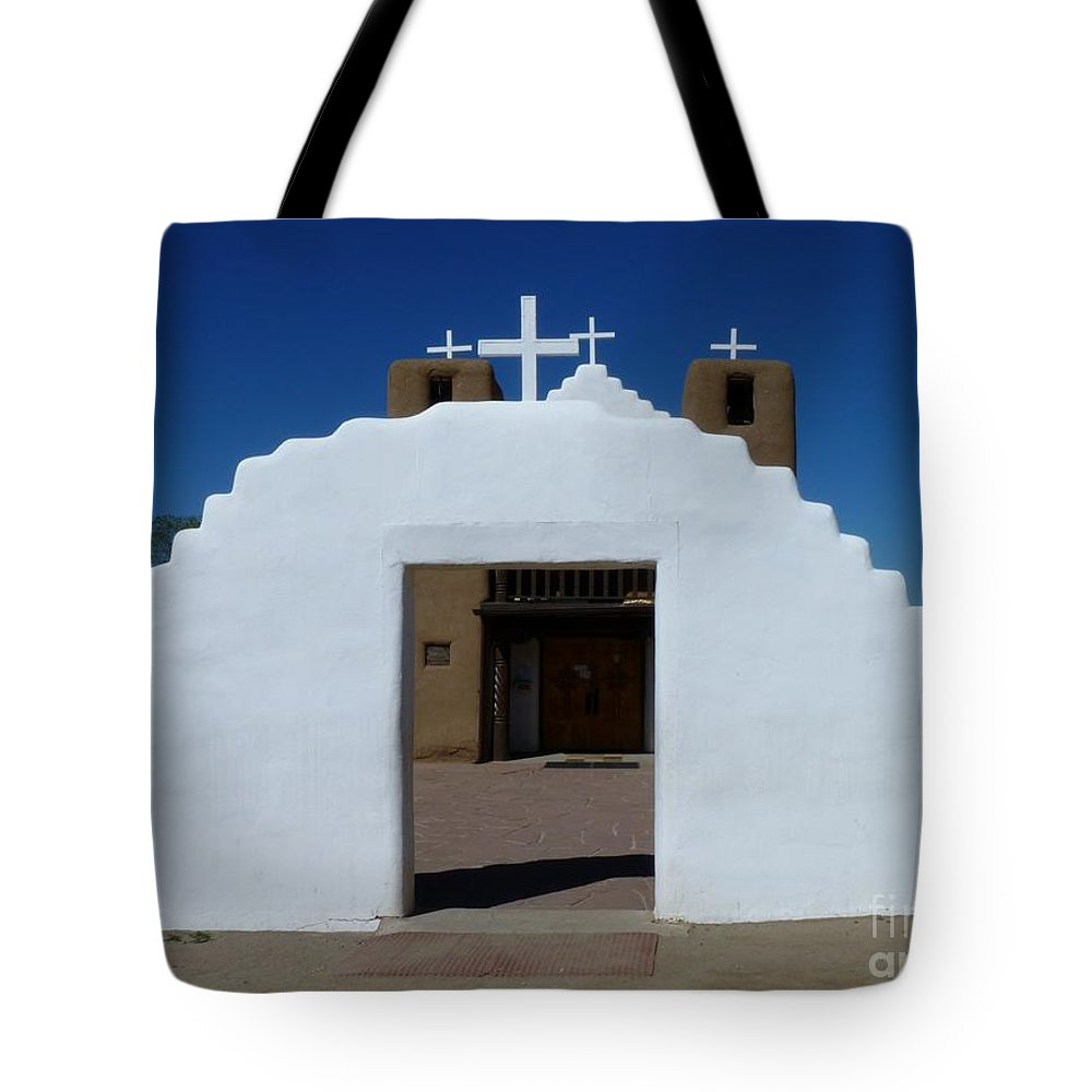 Religious Tote Bag featuring the photograph Enter by MAK Photography
