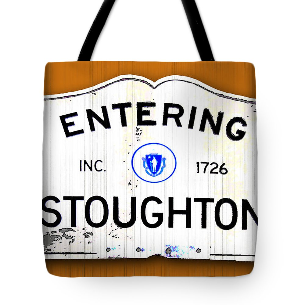Stoughton Tote Bag featuring the photograph Entering Stoughton by K Hines