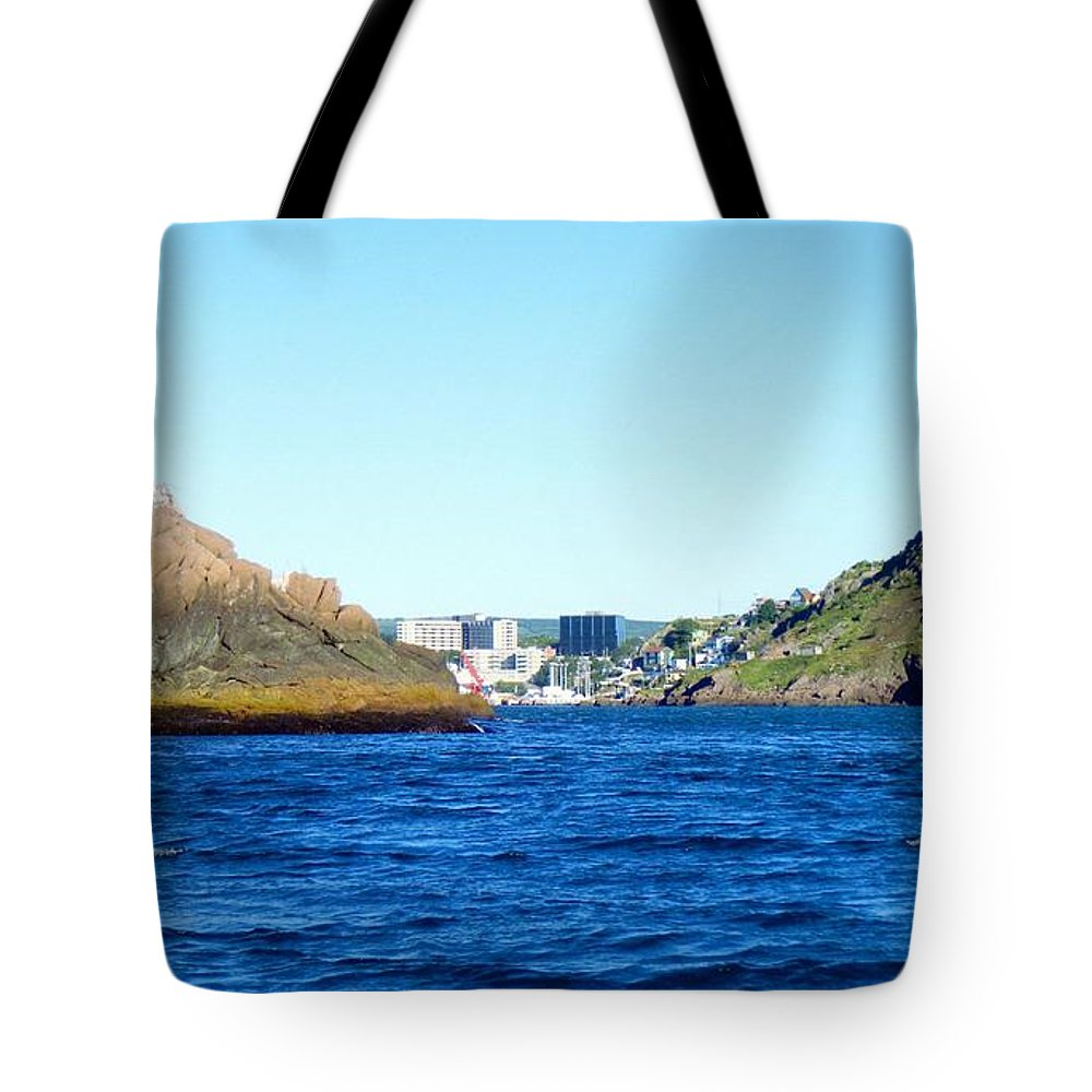 Entering The Narrows Near Fort Amherst Rock By Barbara Griffin Tote Bag featuring the photograph Entering The Narrows Near Fort Amherst Rock By Barbara Griffin by Barbara Griffin