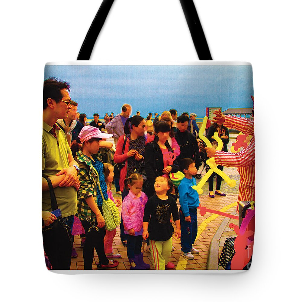 Blue Tote Bag featuring the painting Entertainer by Philip HP Wong