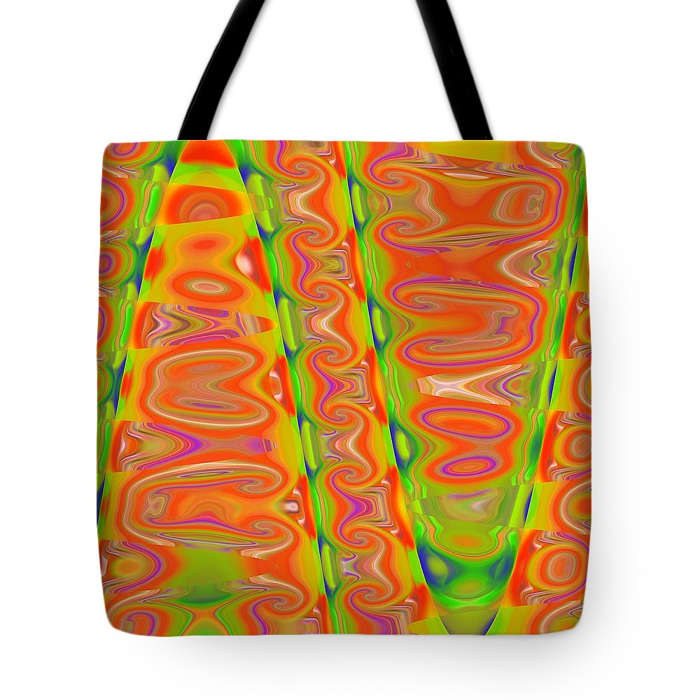Abstract Tote Bag featuring the digital art Entomophobia by John Holfinger
