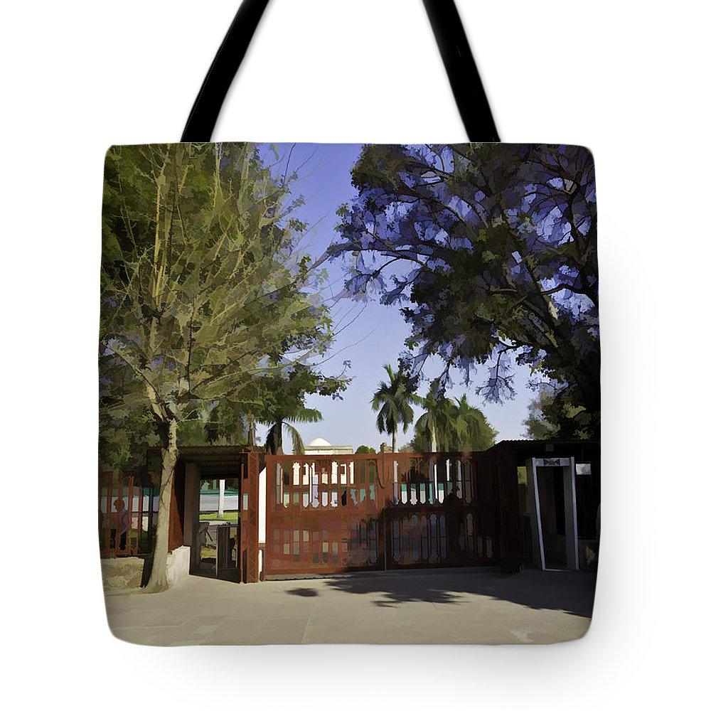 Action Tote Bag featuring the digital art Entrance Gate Of Humayuns Tomb In Delhi by Ashish Agarwal