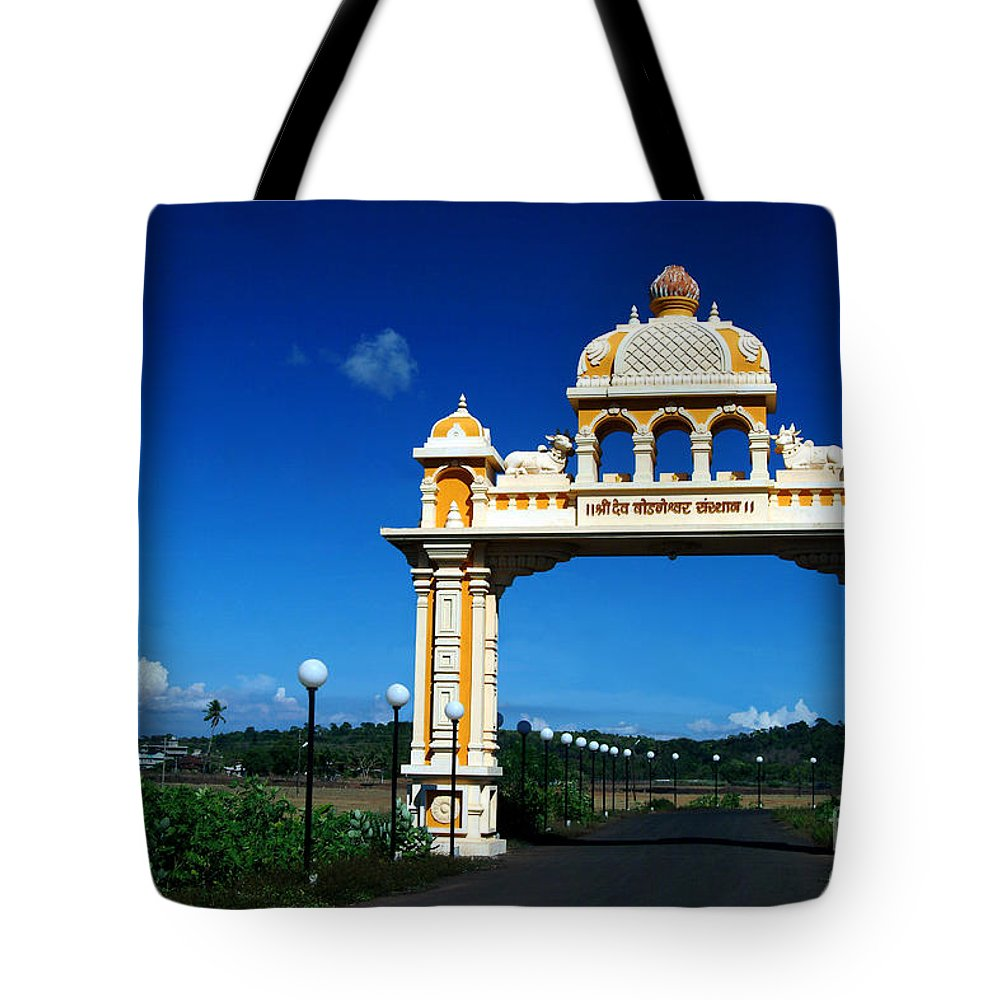 Entrance Tote Bag featuring the photograph Entrance To Heaven by Dattaram Gawade