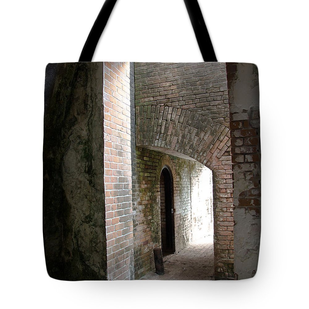Building Tote Bag featuring the photograph Entries by Kathy Bassett