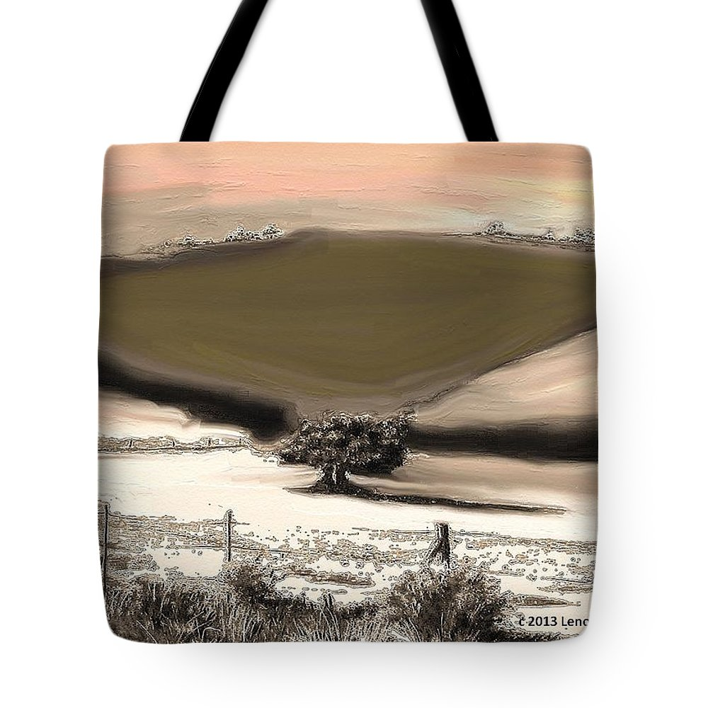 Expressive Tote Bag featuring the mixed media Entwined Before Winter by Lenore Senior