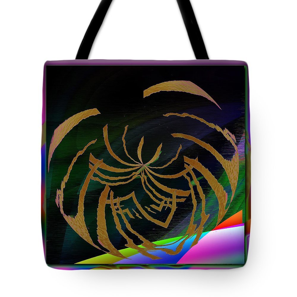 Abstract Tote Bag featuring the digital art Enveloped 5 by Tim Allen